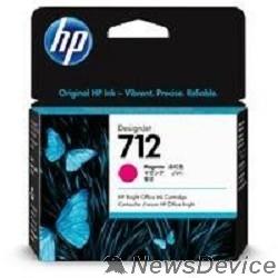 Расходные материалы Картридж струйный HP 712 3ED68A пурпурный (29мл) для HP DJ Т230/630