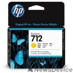 Расходные материалы Картридж струйный HP 712 3ED69A желтый (29мл) для HP DJ Т230/630