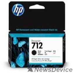 Расходные материалы Картридж струйный HP 712 3ED70A черный (38мл) для HP DJ Т230/630
