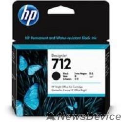 Расходные материалы Картридж струйный HP 712 3ED71A черный (80мл) для HP DJ Т230/630