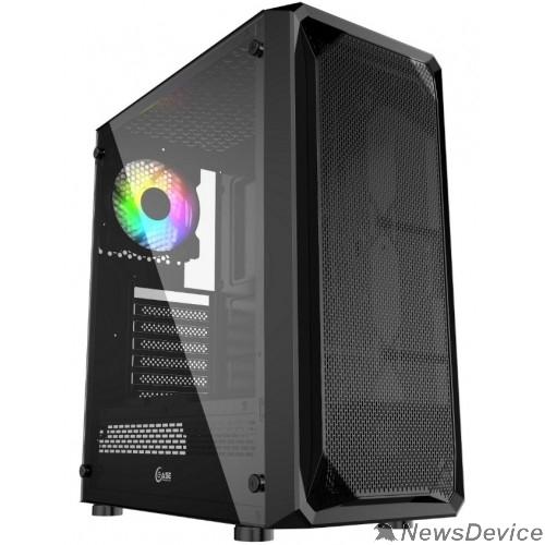 Корпус Powercase CMIZB-L1 Корпус Mistral Z1 Mesh LED, Tempered Glass, 1x 120mm 5-color fan, чёрный, ATX  (CMIZB-L1)