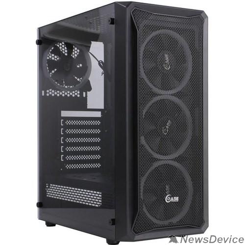 Корпус Powercase CMIZB-L4 Корпус Mistral Z4 Mesh LED, Tempered Glass, 4x 120mm 5-color fan, чёрный, ATX  (CMIZB-L4)