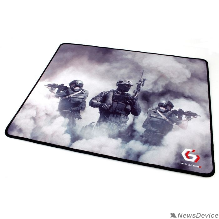 "Коврики Коврик для мыши Gembird MP-GAME35, рисунок- ""солдаты"", размеры 437*350*3мм, ткань+резина, оверлок"