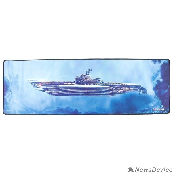 """Коврики Коврик для мыши Гарнизон GMP-305, рисунок- """"подлодка"""", размеры 864*279*3мм, ткань+резина, оверлок"""