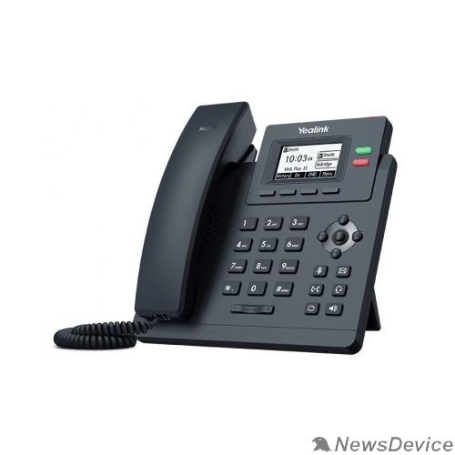 VoIP-телефон Yealink SIP-T31P, Телефон SIP 2 линии, PoE, БП в комплекте (SIP-T31P)