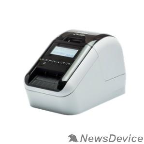 Принтер Brother QL820-NWB Термопринтер (для печ.накл.) стационарный серебристый (QL820NWBR1)