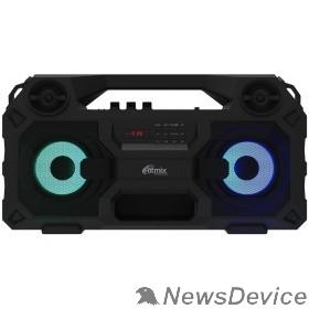 Колонки RITMIX SP-690B black Jack 6.3 мм c функцией ЭХО, дисплей: LED, эквалайзер, RGB-подсветка, до 8 часов, 2000 мАч, 7.4 В, microUSB DC 5В 2A, 46 ? 24.3 ? 17.5 см, пластик, черный