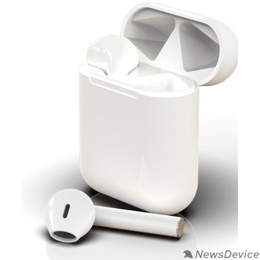 Наушники RITMIX RH-804BTH TWS White Bluetooth 5.0+EDR, 10 мм, 20-20000 Гц, 32 Ом, 40 мАч (наушники), кейс 300 мАч, до 4 ч на одном заряде, USB Type-C, пластик