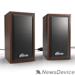 Колонки RITMIX SP-2052w Cherry 6 Вт (2*3 Вт), 50 мм, USB, jack 3.5 мм, 60-20000 Гц, рег. громкости, МДФ+металл, 98*78*140 мм, вишня
