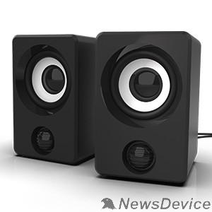 Колонки RITMIX SP-2058 Black 6 Вт (2*3 Вт), 50 мм, USB, jack 3.5 мм, 130-18000 Гц, рег. громкости, пластик, 66*65*99 мм, пластик, черный