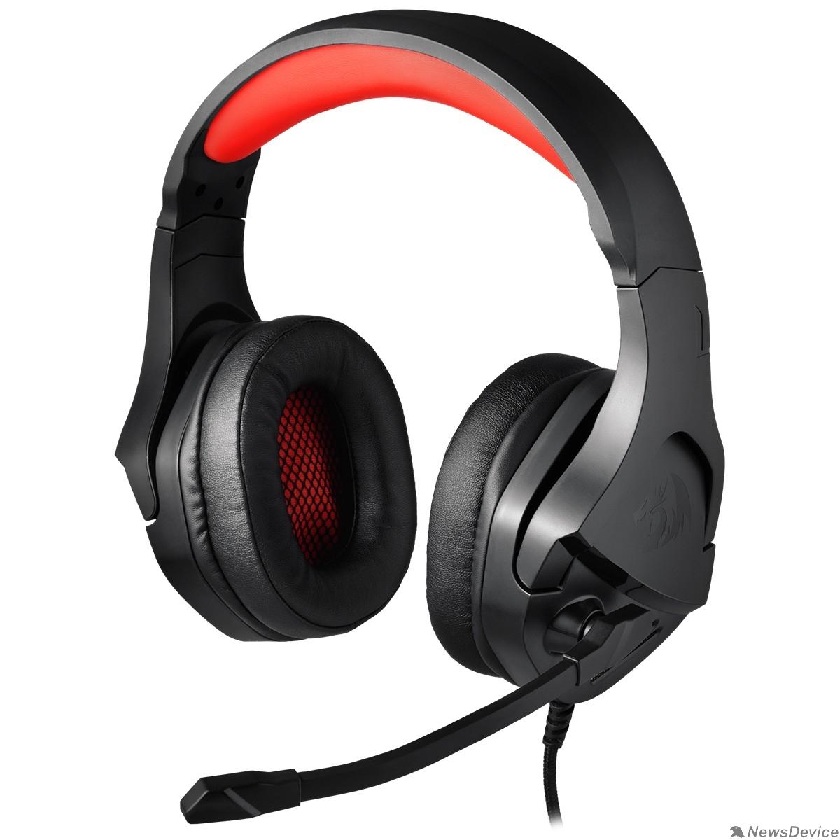 Наушники Defender Theseus красный + черный, кабель 2 м Redragon