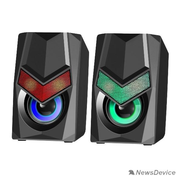 Колонки Defender Solar 1 6Вт, подсветка, питание от USB 65401