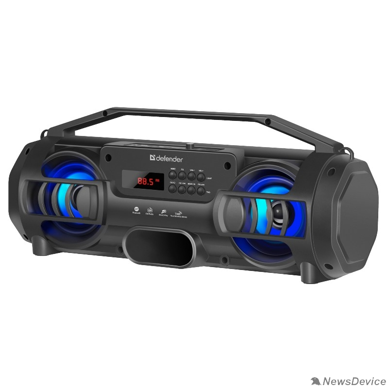 Колонки Defender G104 12Вт, Light/BT/FM/TF/USB/TWS 65104