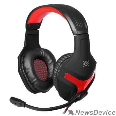 Наушники Defender Scrapper 500 красный + черный, кабель 2 м 64500