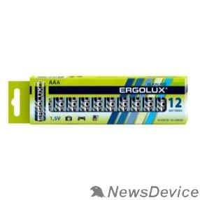 Батарейка Ergolux  LR03 Alkaline BP-12 (LR03 BP-12, батарейка,1.5В) (12 шт. в уп-ке)