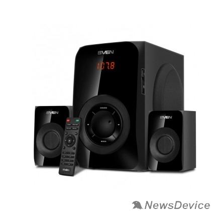 Колонки SVEN АС MS-2020, черный (55 Вт, Bluetooth, пульт, дисплей, FM, USB, SD)