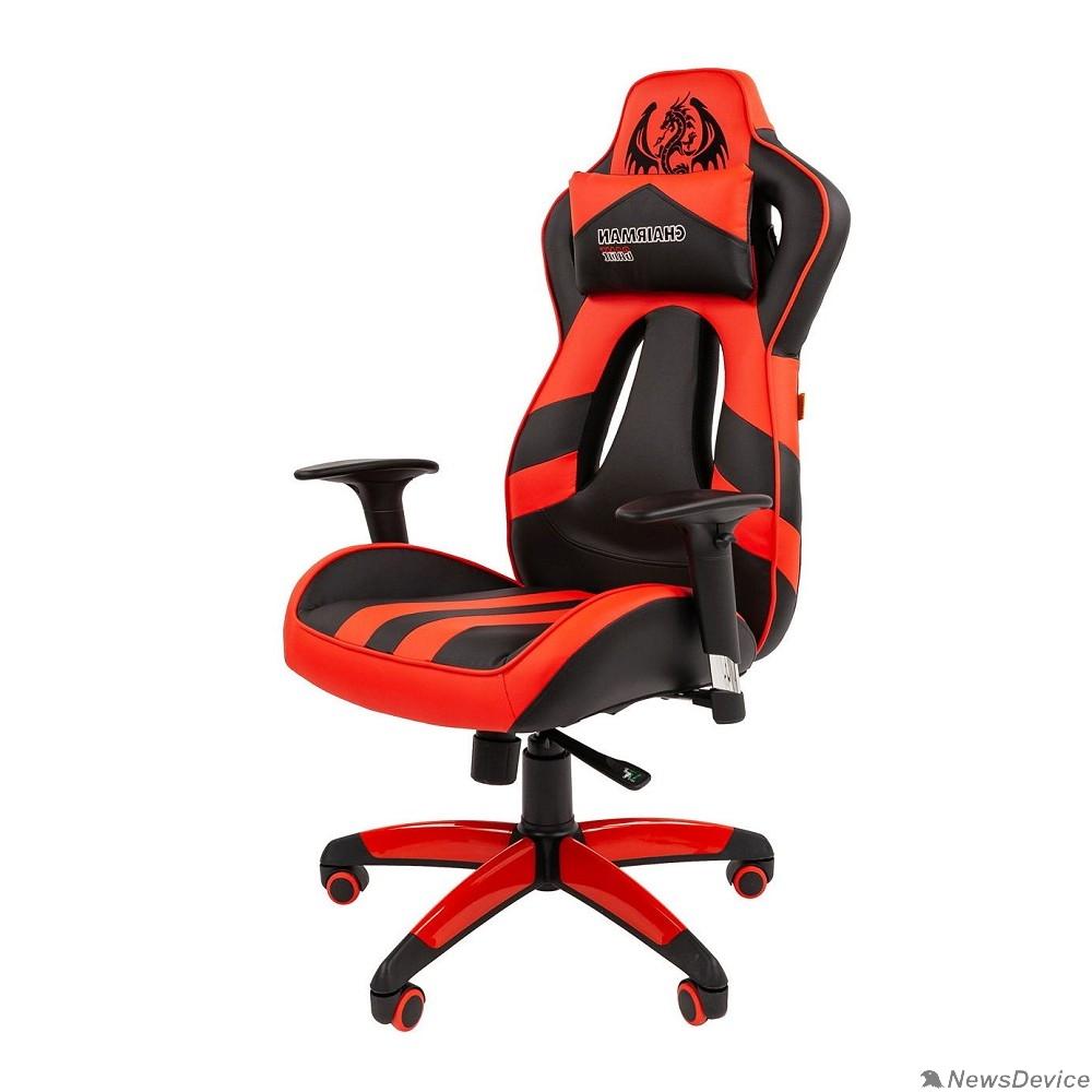 Офисные кресла Офисное кресло Chairman  game 25 Россия экопремиум черный/красный (7054931)
