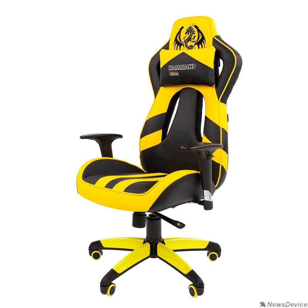 Офисные кресла Офисное кресло Chairman  game 25 Россия экопремиум черный/желтый (7054100)