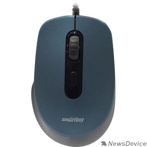 Клавиатуры, мыши Мышь проводная беззвучная Smartbuy ONE 265-B синяя / 40 SBM-265-B