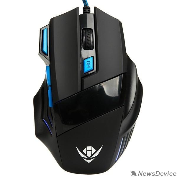 Мышь Мышь MOG-21U Nakatomi Gaming mouse - игровая, 7 кнопок + ролик прокрутки, USB, черная