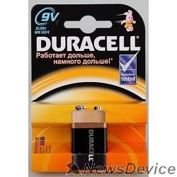 Батарейки  Duracell 6LR61-1BL/6LF22 9V (1 шт. в уп-ке) алкалиновые, крона MN1604 6LP3146/MN1604
