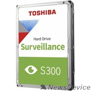 "Жесткий диск 2TB Toshiba Surveillance S300 (HDWT720UZSVA/HDKPB04Z0A01) SATA 6.0Gb/s, 5400 rpm, 128Mb buffer, 3.5"" для видеонаблюдения"