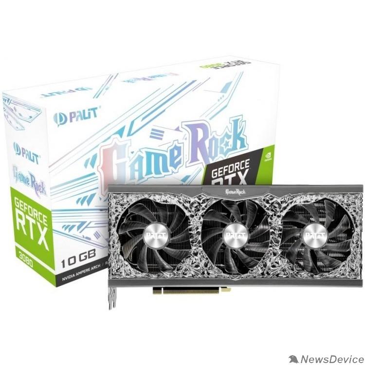 Видеокарта PALIT RTX 3080 10GB  GAMEROCK  GDDR6X 320b, HDMI DPx3   (RET) NED3080U19IA-1020G
