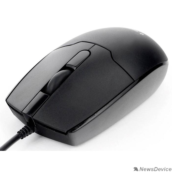 Мышь Gembird MOP-425 Мышь, USB, черный, 2кн.+колесо-кнопка, 1000 DPI, кабель 1.8м MOP-425