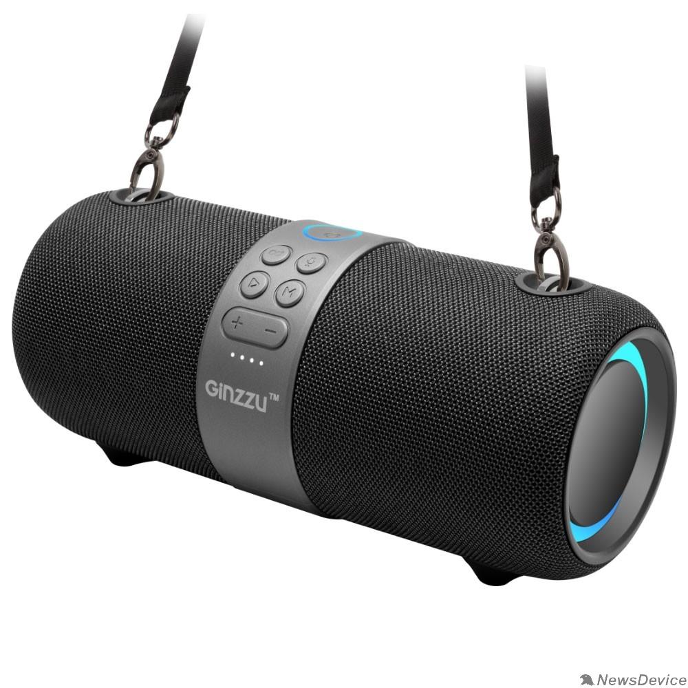 Колонки Ginzzu Ginzzu GM-903B, BT-Колонка 28W/3Ah/TWS/IPX6/USB/AUX/FM/RGB