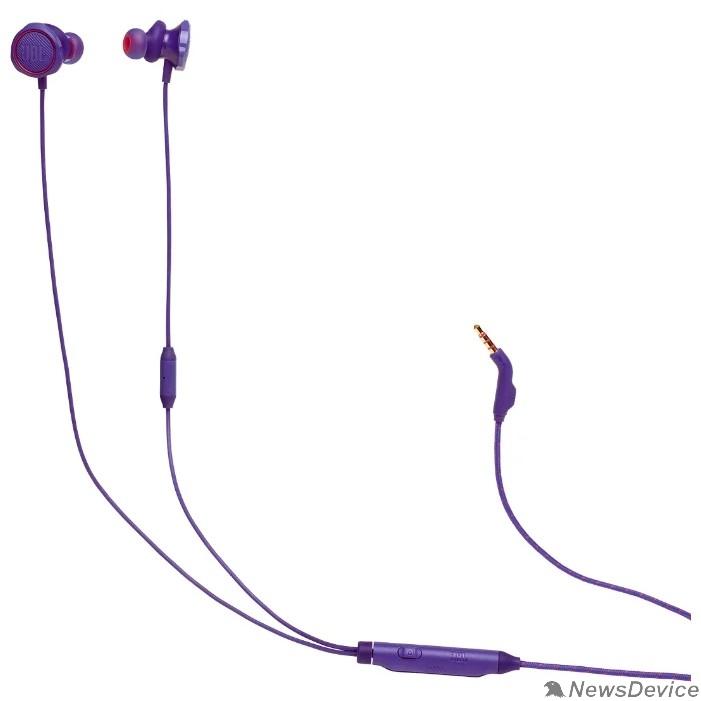 Наушники Наушники с микрофоном JBL Quantum 50 фиолетовый 1м вкладыши в ушной раковине (JBLQUANTUM50PUR)