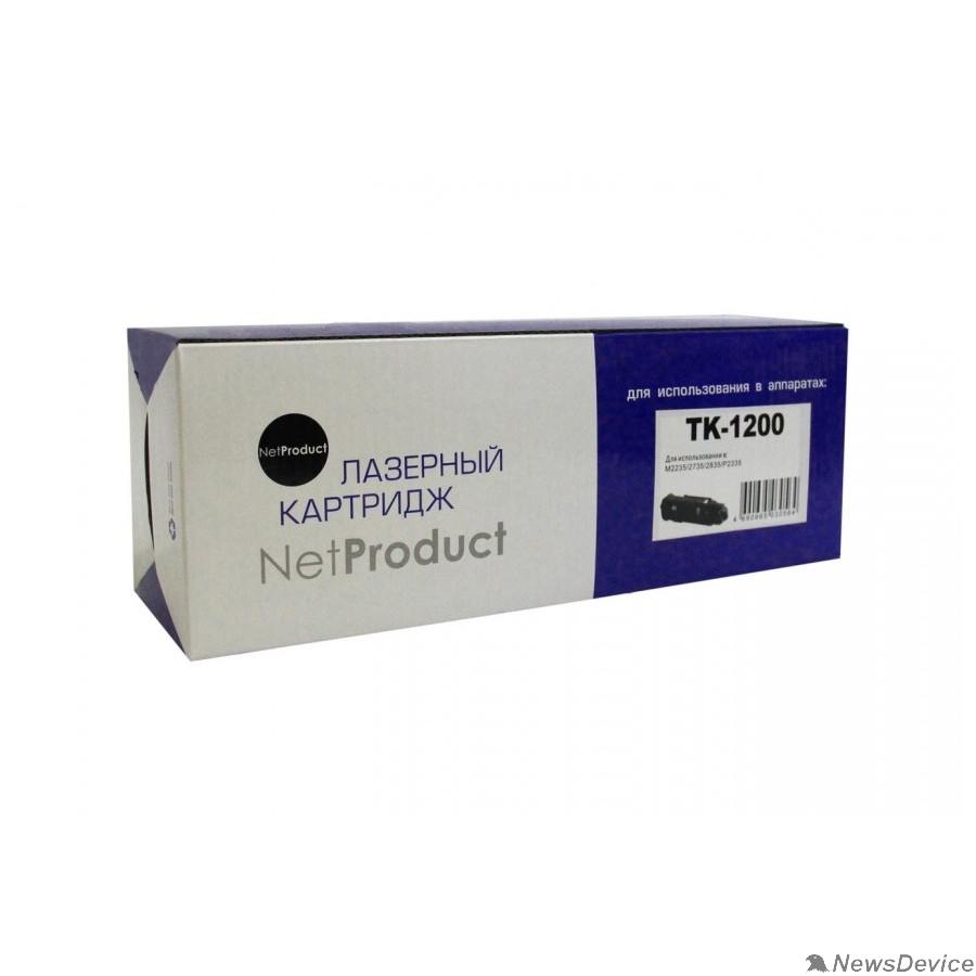 Расходные материалы NetProduct  TK-1200 Тонер-картридж для Kyocera M2235/2735/2835/P2335, 3K