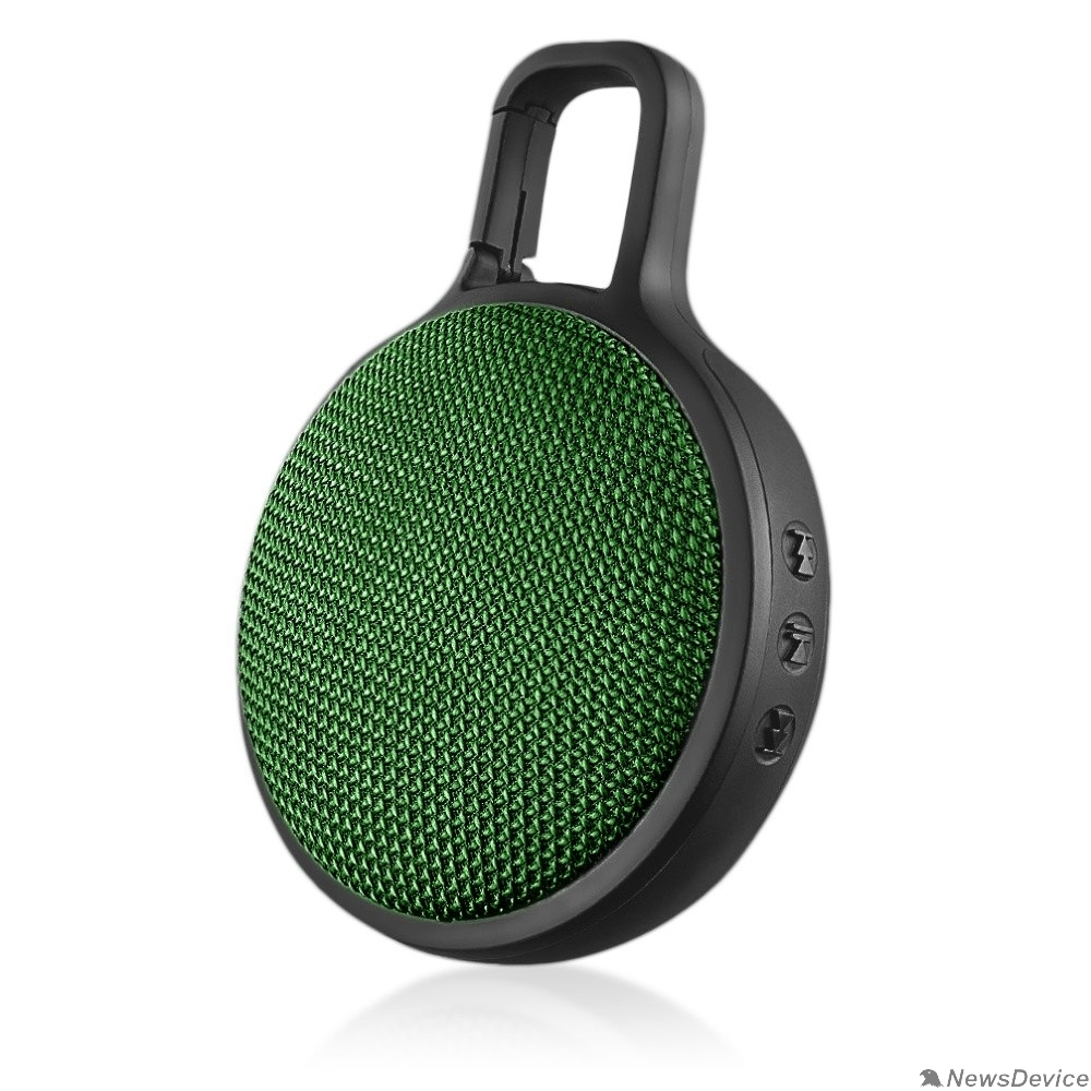 "Колонки Perfeo Bluetooth-колонка ""CIRCLE"" зеленая PF_B4190"