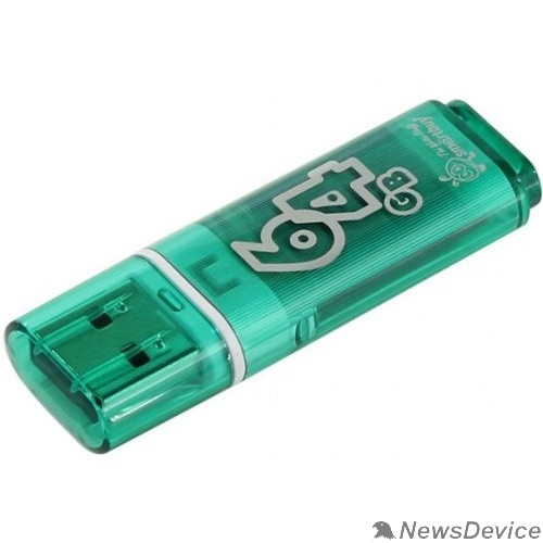 Носитель информации Smartbuy USB Drive 64Gb Glossy series Green SB64GBGS-G