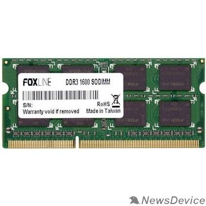 Модуль памяти Foxline DDR3 SODIMM 8GB FL1600D3S11-8G (PC3-12800, 1600MHz)