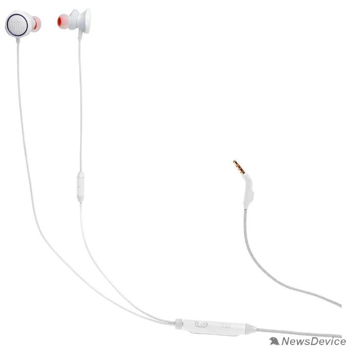 Наушники Наушники с микрофоном JBL Quantum 50 белый 1м вкладыши в ушной раковине (JBLQUANTUM50WHT)