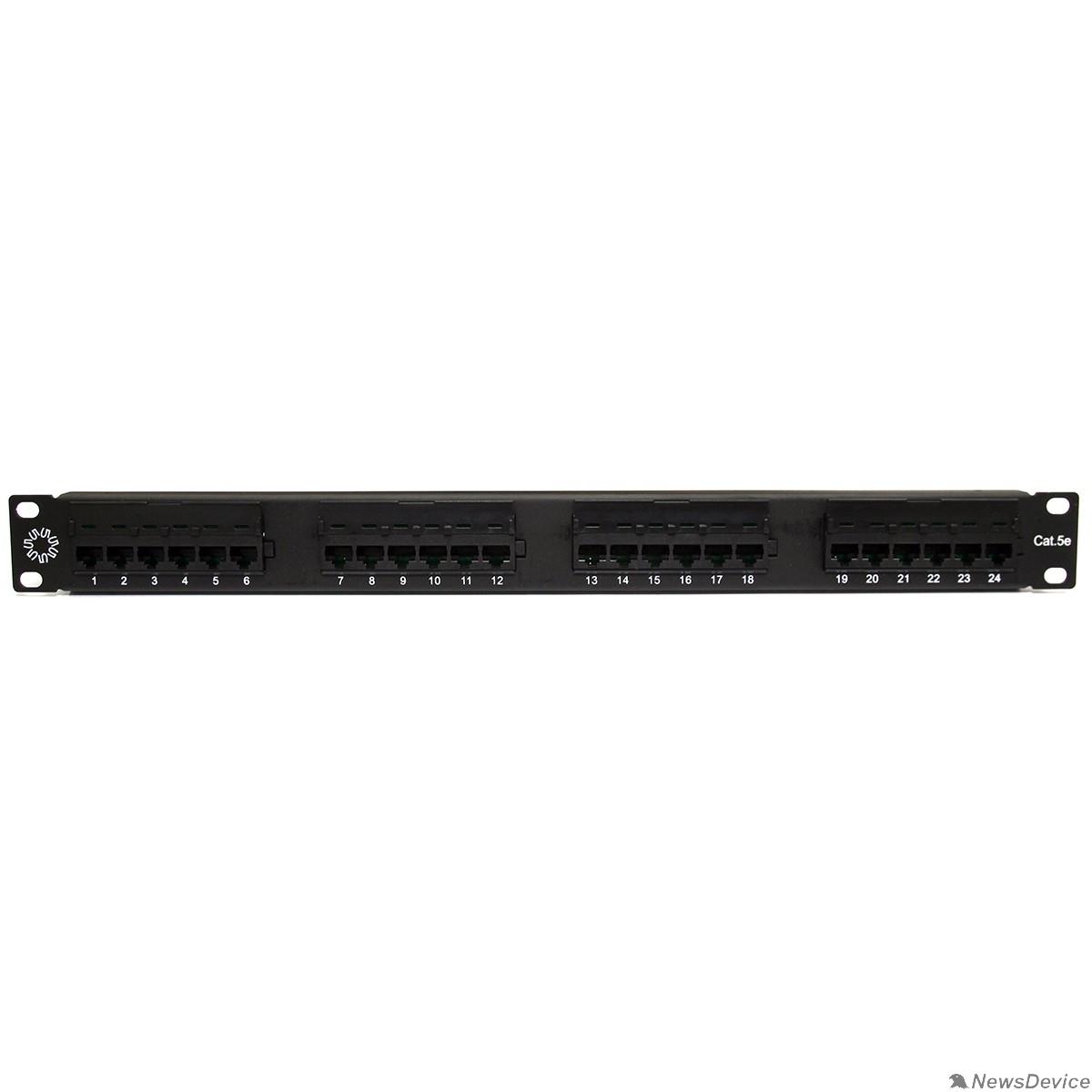 """Монтажное оборудование 5bites PPU55-01 Патч-панель UTP / 5E / 24P / KRONE / 110 / DUAL IDC / 1U / 19"""""""