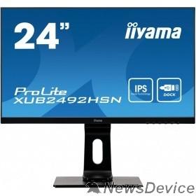 """Монитор IIYAMA 23.8"""" XUB2492HSN-B1 IPS 1920х1080 250cd 178/178 1000:1 80M:1 16.7M 4ms D-Sub HDMI DisplayPort USB-Hub"""
