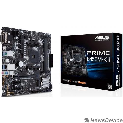 Материнская плата Asus PRIME B450M-K II Soc-AM4 AMD B450 2xDDR4 mATX AC`97 8ch(7.1) GbLAN RAID+VGA+DVI+HDMI