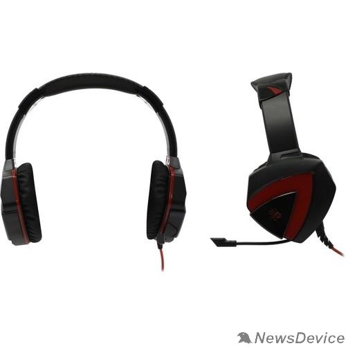 Наушники A4 Bloody G500 черный/красный 2.2м мониторные оголовье (A4TECH G500)