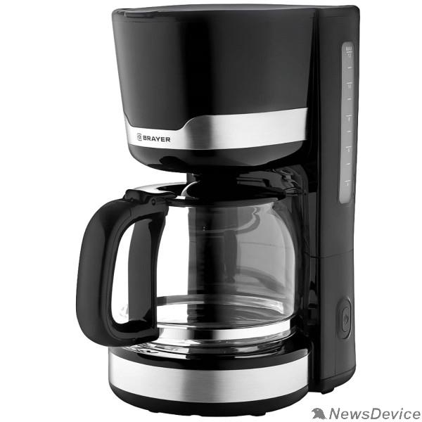 Кофеварки BRAYER 1120BR Кофеварка, 1000 Вт, 1,5 л., съемный фильтр, поддержание t
