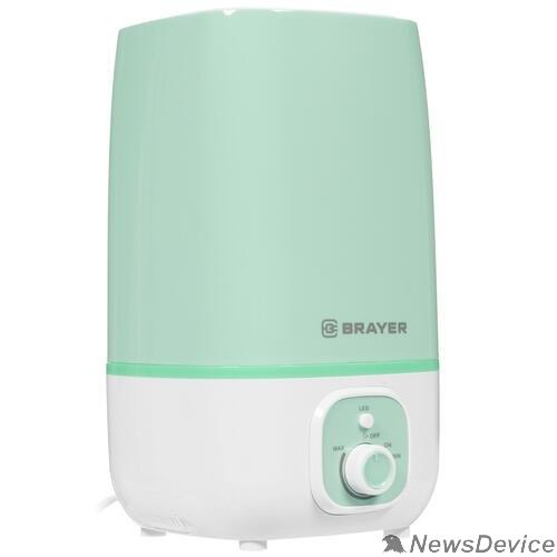 Увлажнители воздуха  BRAYER 4700BR-GN Увлажнитель ультразвуковой  4 л, 25 м, 13 ч., регулировка интенсивности, аромат.