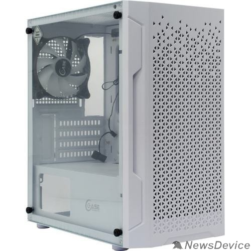 Корпус Powercase CMIMZW-L3 Корпус Mistral Micro Z3W Mesh LED, Tempered Glass, 2x 140mm + 1х 120mm 5-color fan, белый, mATX  (CMIMZW-L3)