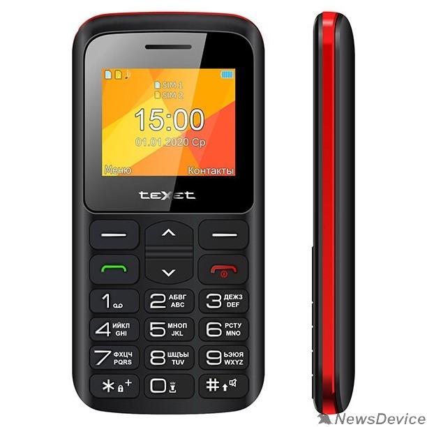 Мобильный телефон TEXET TM-B323 мобильный телефон цвет черный-красный