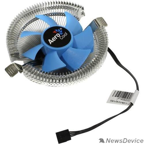 Вентилятор Вентилятор для процессора Aerocool Verkho i 90W(4пин, 775/1155, 12.2-29.7дБ, 1200-2500об/мин, Al PWM/ Clip)