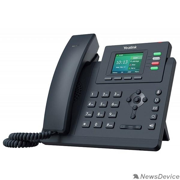 VoIP-телефон YEALINK SIP-T33P, IP телефон 4 аккаунта, цветной экран, PoE, БП в комплекте, шт (замена SIP-T40P)