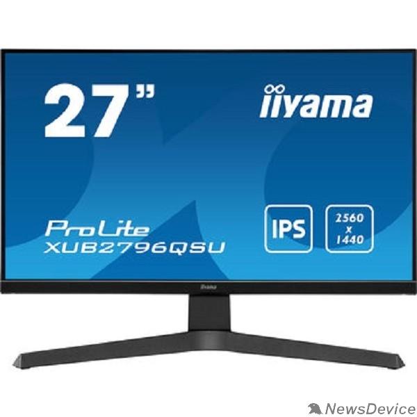 "Монитор IIYAMA 27"" XUB2796QSU-B1 черный IPS 2560x1440 75Hz 1ms 16:9 250cd 178/178 8bit HDMI1.4 DisplayPort1.2 FreeSync 2xUSB2.0 AudioOut 2x2W VESA"