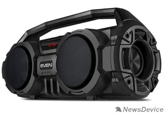 Колонки SVEN PS-415, черный, акустическая система (2.0, мощность 2x6 Вт (RMS), Bluetooth, FM, USB, microSD, LED-дисплей, встроенный аккумулятор)