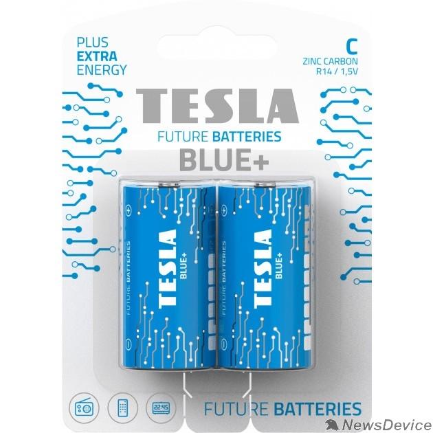 Батарейки Tesla Blue+ C (R14) блистер  (2 шт. в уп-ке)