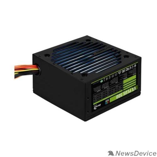 Блок питания Блок питания Aerocool VX-500 RGB PLUS (ATX 2.3, 500W, 120mm fan, RGB-подсветка вентилятора) Box