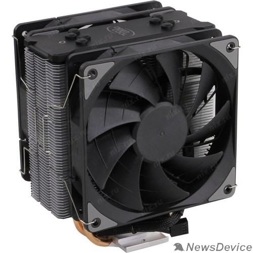 Вентилятор Кулер DEEPCOOL GAMMAXX 400 EX LGA1366/115X/AM4/AM3/+/AM2/+/FM2/+/FM1 (12шт/кор, TDP 180Вт, PWM, DUAL Fan 120mm, 4 тепл. трубки прямого контакта ) RET
